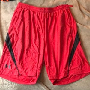 Under Armor Red Shorts Men's Large
